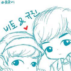 [FANART] UP10TION Bitto & Gyujin - cr:@_YOOKYOOK2 #UP10TION #업텐션  #BITTO #비토 #ビト