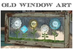 Old window art Old Window Art, Old Window Frames, Old Wood, Windows, Antiques, Creative, Artist, Antiquities, Antique