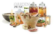 """Garden Picnic Party"" by anmarga ❤ liked on Polyvore featuring interior, interiors, interior design, home, home decor, interior decorating, EcoSmart Fire, Garden Trading, blomus and Anchor Hocking"