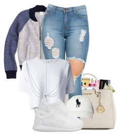 """"""":)"""" by reese123 ❤ liked on Polyvore featuring J.Crew, Alexander Wang, Polo Ralph Lauren and NIKE"""