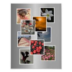 Shop Photo Collage Picture Frame Design Poster created by Personalize it with photos & text or purchase as is! Photo Collage Design, Photo Collage Gift, Photo Collage Template, Collage Picture Frames, Photocollage, Framing Photography, Design Poster, Custom Posters, Print Pictures