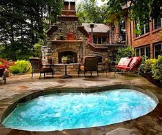 Pool? What pool? LOOK AT THE FIREPLACE!!!