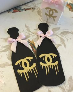 Chanel photo props • Chanel party favors • party decor • coco Chanel