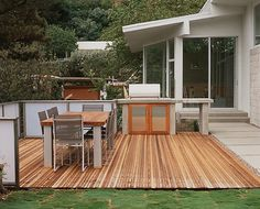 decking, paving and grass