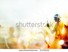Double exposure, woman fighting martial arts, boxing and fight with nunchaku on people in stadium background, soft focus and blur - stock photo