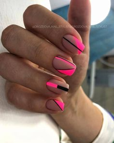 Likes, 6 Kommentare - Manicure / Nails / Master .- Likes, 6 Kommentare – Manicure / Nails / Master … – Unghiuțe – # Unghiuțe # Manicure # Master - Square Nail Designs, Short Nail Designs, Nail Art Designs, Nails Design, Design Design, Design Ideas, Toe Nails, Pink Nails, Short Square Nails