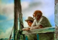 Aleksander Petrov's animation of Ernest Hemingway's 'The Old Man and the Sea' features over 29,000 frames hand-painted on glass. In 2000, the animated short won an Oscar.