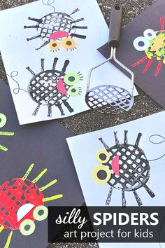 Silly Spider Art Project for Kids: Spider Prints - Fantastic Fun & Learning