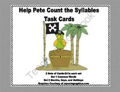 Task Cards Counting Syllables-Grades 2-3 from Mrs. Mc's Shop on TeachersNotebook.com -  (17 pages)  - There are 2 sets of task cards, 24 cards each. The first set has common words and the second set includes Months, Days, and Holiday names. There is a student worksheet and an answer key included. These cards come in handy for early finishers or students y