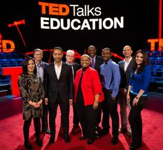 The speaker lineup for TED Talks Education, airing tonight (May 7) at 10/9c on PBS: Angela Lee Duckworth, Bill Gates, John Legend, Sir Ken Robinson, Geoffrey Canada, Malcolm London, Ramsey Musallam, Pearl Arredondo.    Watch their full-length talks on TED.com, starting on May 8. Read more: http://www.ted.com/TEDTalksEd