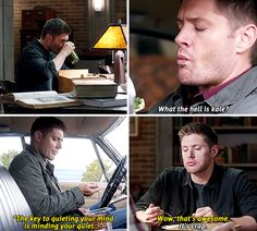 [gifset] Dean and his new diet 10x11 There's No Place Like Home #SPN #Dean