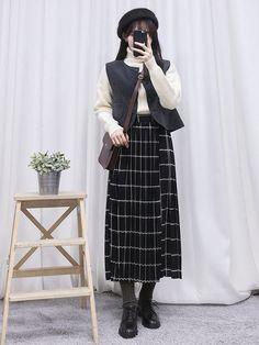 마리쉬♥패션 트렌드북! Korean Fashion Kpop, Korean Fashion Casual, Korean Street Fashion, Kpop Fashion Outfits, Korea Fashion, Vogue Fashion, Korean Outfits, Asian Fashion, Modest Fashion