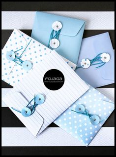 string tie envelopes by FojAga