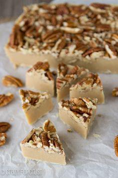 Pecan Pie Fudge   crazyforcrust.com