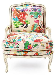 Home Accents Fabric Cachepot    Our topic today is the wonderful pairing of a chair with a grand Chinoiserie fabric. As you can see here, ...