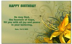 Happy Birthday Biblical Quotes QuotesGram Bible About Peace Verses