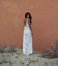 There is 0 tip to buy dress, white lace maxi dress backless. Help by posting a tip if you know where to get one of these clothes. Looks Street Style, Looks Style, My Style, Boho Style, Mode Hippie, Hippie Man, Lace Maxi, Lace Dress, White Dress