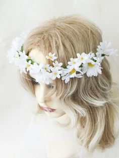 Daisy flower crown flower crown rustic by AnitaHiltonweddings