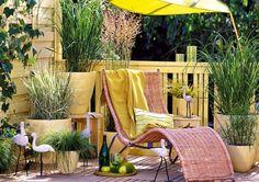 un jardín muy relax