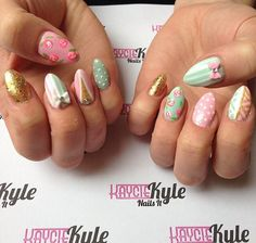 easter pastel nails by http://kayciekyle.com
