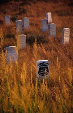 Little Bighorn cemetery. To learn about the battle of Little Bighorn also known as Custer's Last Stand, see here:  http://traditionalnativehealing.com/sitting-bull-and-general-custer