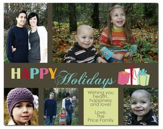 Holiday Photo Card Printable from BitsyCreations.com