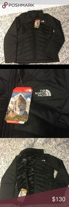 "1 DAY SALE! Women's North Face Reversible Jacket Women's ""North Face"" Reversible Mossbud Swirl Jacket (super soft and comfortable): - size (XS) - color (black) - Brand New (NWT) - Retails for $150 The North Face Jackets & Coats"