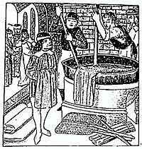 woodcut of indigo dying Shades Of Burgundy, Shades Of Green, Egg Crafts, Arts And Crafts, Tudor History, Illuminated Manuscript, Color Theory, Painting & Drawing, Indigo