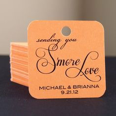 Smore Love . 20 Personalized Wedding Favor Tags on by scrapbits, $14.00