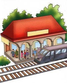 Laminas de Lugares Mariela Falabella Google+ Paper Doll House, Transportation Theme, Two Year Olds, Classroom Decor, Kindergarten, Homeschool, Spanish, Clip Art, English