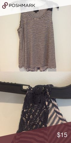 Blouse Stripes with cute print on shoulders Tops Blouses