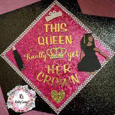 Pink graduation cap topper