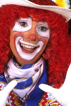 clown makeup - Rodeo Clown