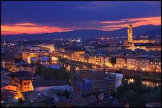 Arno River and Florence Skyline from Piazzale Michelangelo | Flickr - Photo Sharing!