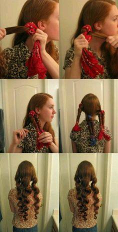 Curly hair tutorial  -girl hair styles