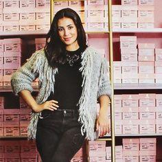 Alessandra de Osma wearing Morella Cardigan #aw1516collection #Ayniuniverse #borninperu #sustainable #fashion #cardigan