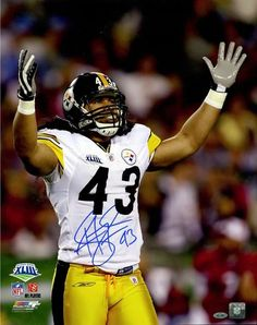 ac20250de ... Troy Polamalu Signed 16x20 Photo Pittsburgh Steelers Steiner Sports ...