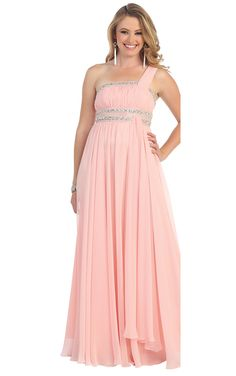 Cheap One Shoulder A-line Zipper Floor-length Chiffon Prom Dress From Highly Praised Online Shop