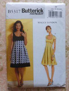 Maggy London Kleid nähen Muster UNCUT Butterick B5317