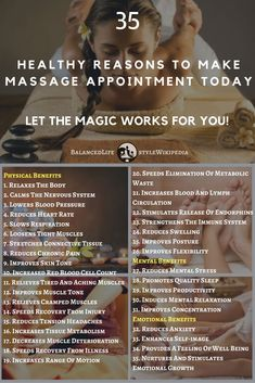 35 Healthy Reasons To Make Massage Appointment Today! How To Grow Taller, Magic Words, Lower Blood Pressure, Feeling Great, Nervous System, Appointments, Metabolism, Massage, Let It Be
