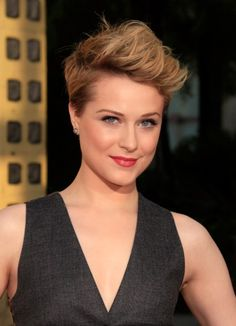Evan Rachel Wood's super edgy look. #short #hair #haircut