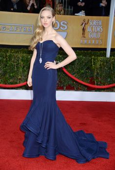 Amanda Seyfried arrives at the 19th Annual Screen Actors Guild Awards at the Shrine Auditorium in Los Angeles on Jan. 27, 2013.