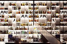 """1,167 curtidas, 9 comentários - Design.Only (@design.only) no Instagram: """"Bar wall of illuminated bottles in Conservatorium Hotel,Amsterdam by Piero Lissoni.(2012)…"""""""