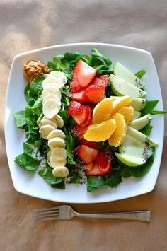 Collection of my favorite healthy dishes and the inspiration behind them - Vegan Breakfast Salad Raw Breakfast, Breakfast Salad, Breakfast Recipes, Breakfast Spinach, Brunch Recipes, Dinner Recipes, Raw Food Recipes, Vegetarian Recipes, Cooking Recipes