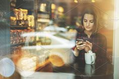 Business woman using mobile phone by FlyingFife on @creativemarket