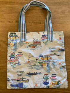 Cath Kidston Tote Shopping Bag Boats Sea Design   eBay Cath Kidston Tote, Boats, Shopping Bag, Im Not Perfect, Coastal, Reusable Tote Bags, Sea, Detail, Cotton