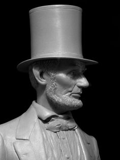 abraham lincoln portrait painting tophat | Abraham Lincoln bust 1/9