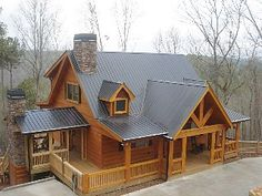 Peaceful & Rustic Log Cabin with the BEST Mountain view and romantic Hot Tub.