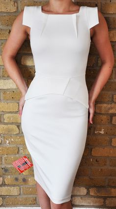 White High Neck Galaxy Pencil Dress