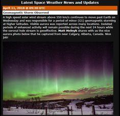ASTRONOMIA MONSACAR: AURORA BOREAL CANADA Weather News, Canada, Northern Lights, Solar, Earth, Aurora, Nordic Lights, Aurora Borealis
